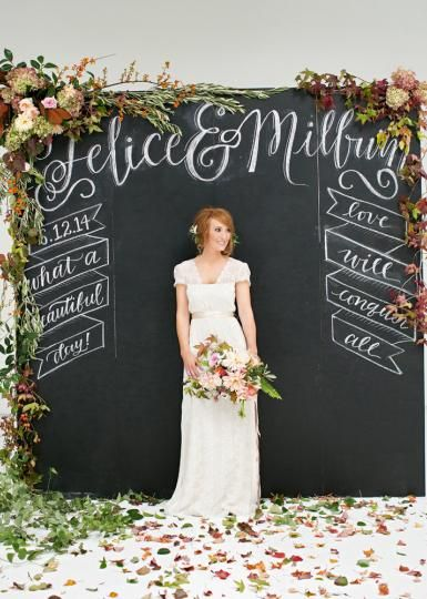 Chalkboard Photo booth Backdrop