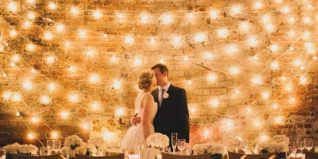 Fairy Lights Wedding Photo Backdrop