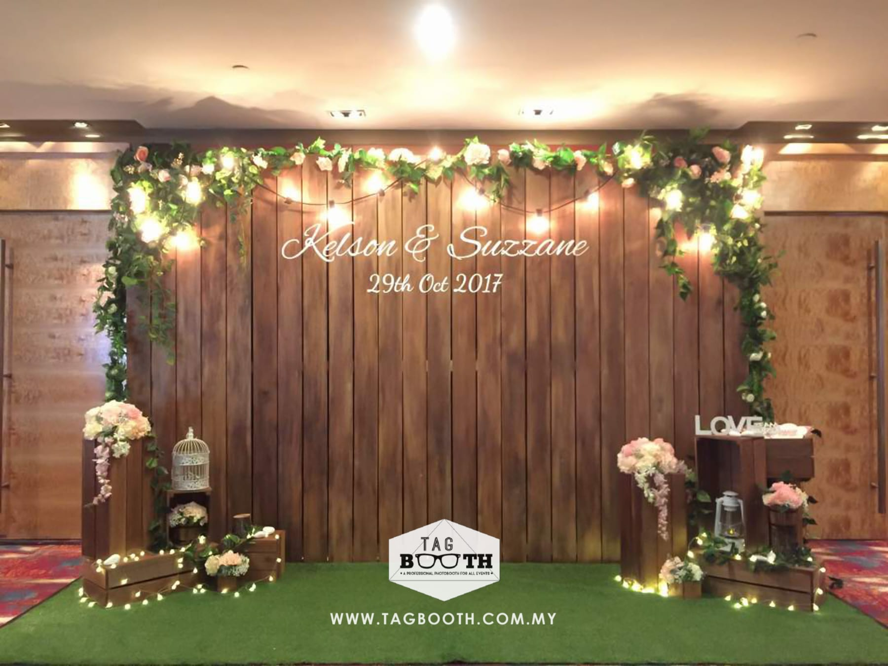Garden Themed Wedding Backdrop Tagbooth Photo Booth