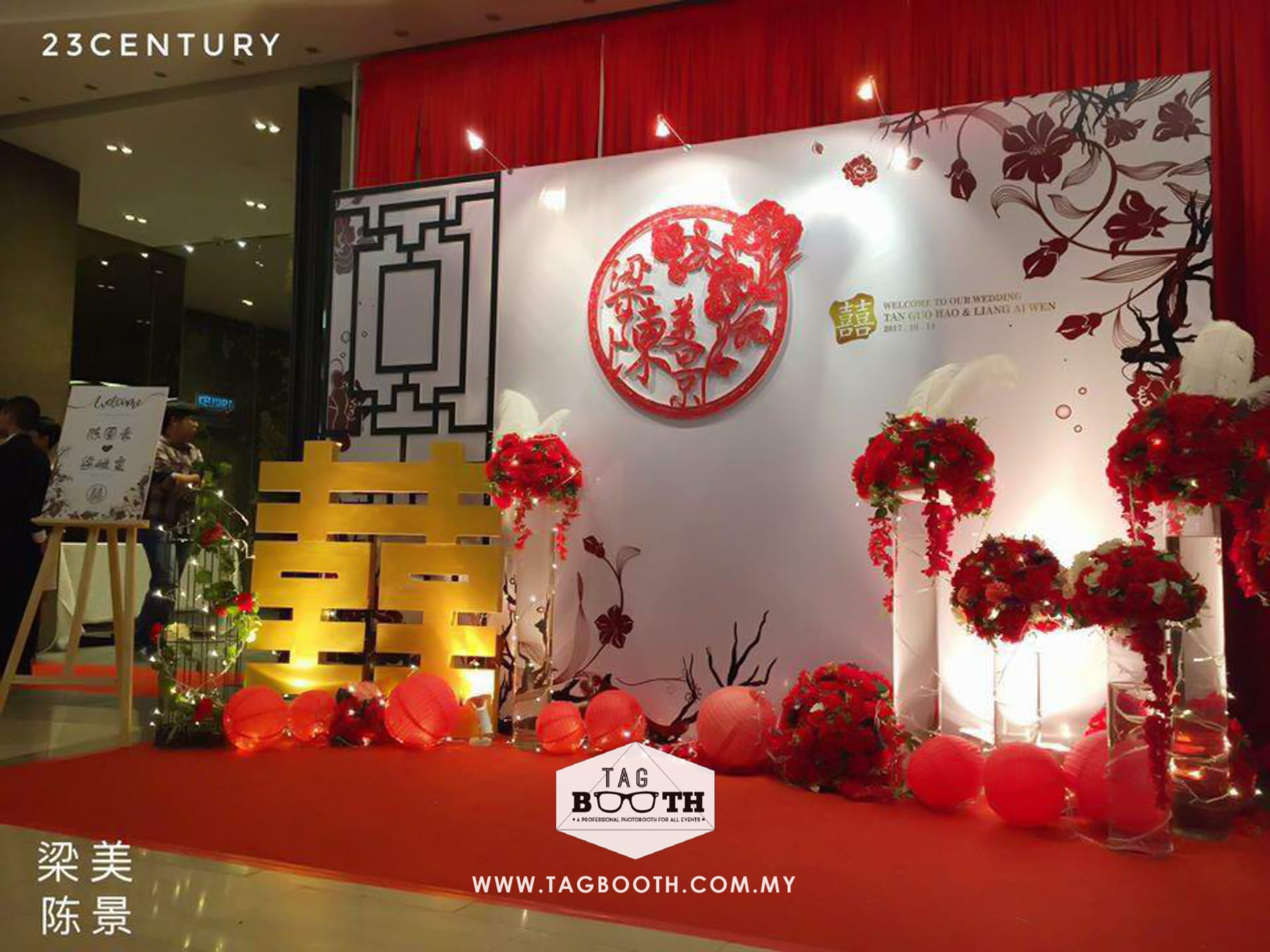 Customised Photobooth Backdrop Oriental Theme