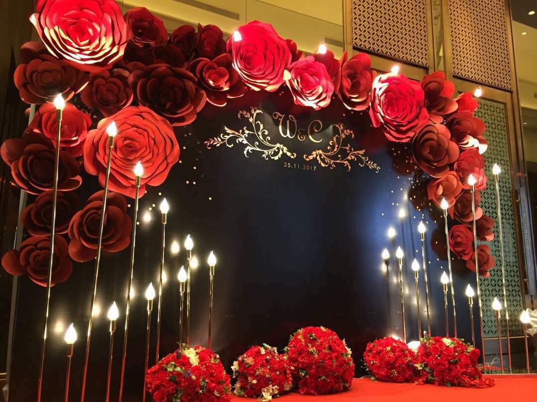 Classy Oriental Wedding Photobooth Backdrop