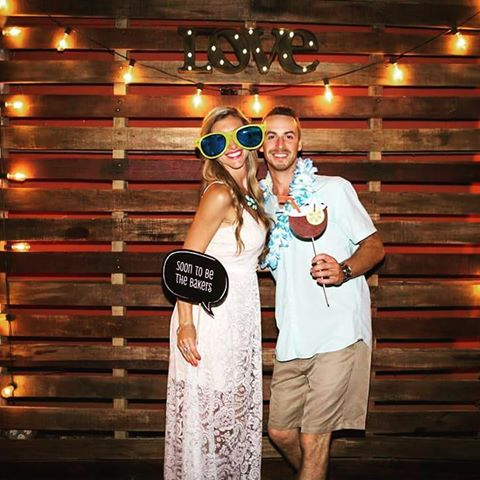 Pallets Photo Booth Backdrop