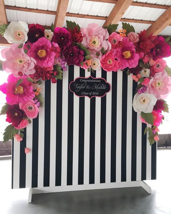 Paper Flower Wedding Photobooth