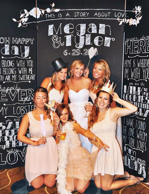 Chalkboard Wedding Photobooth